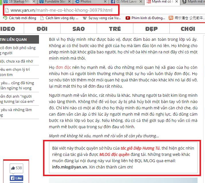 Bài viết trên Mlog của DHT