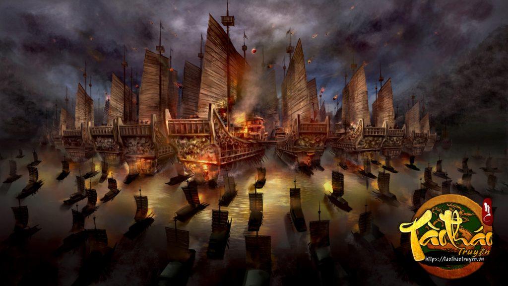 tao thao truyen hoa thieu xich bich 1024x576 - Bình luận về trận đại chiến Xích Bích giữa liên quân Tôn - Lưu và Tào - trai-nghiem, giai-tri