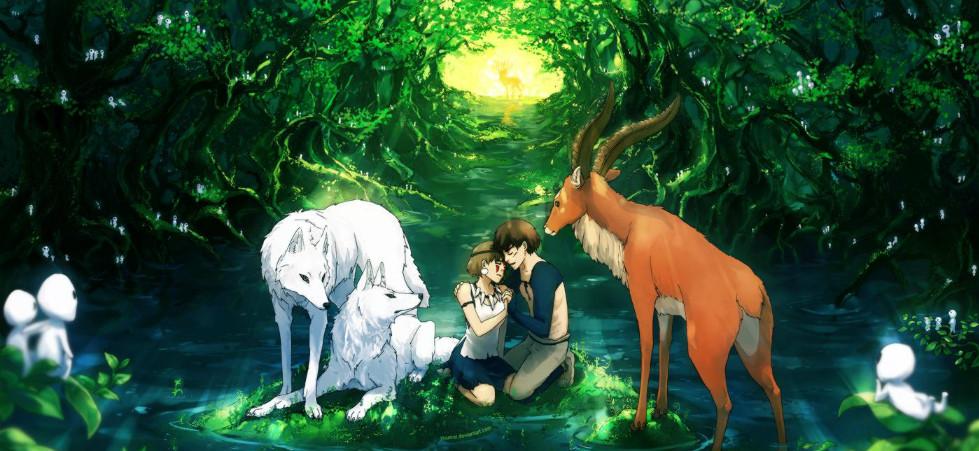 Nx5ZDc7 - Mononoke Hime (1997): Nàng công chúa sói hoang dã - trai-nghiem, giai-tri