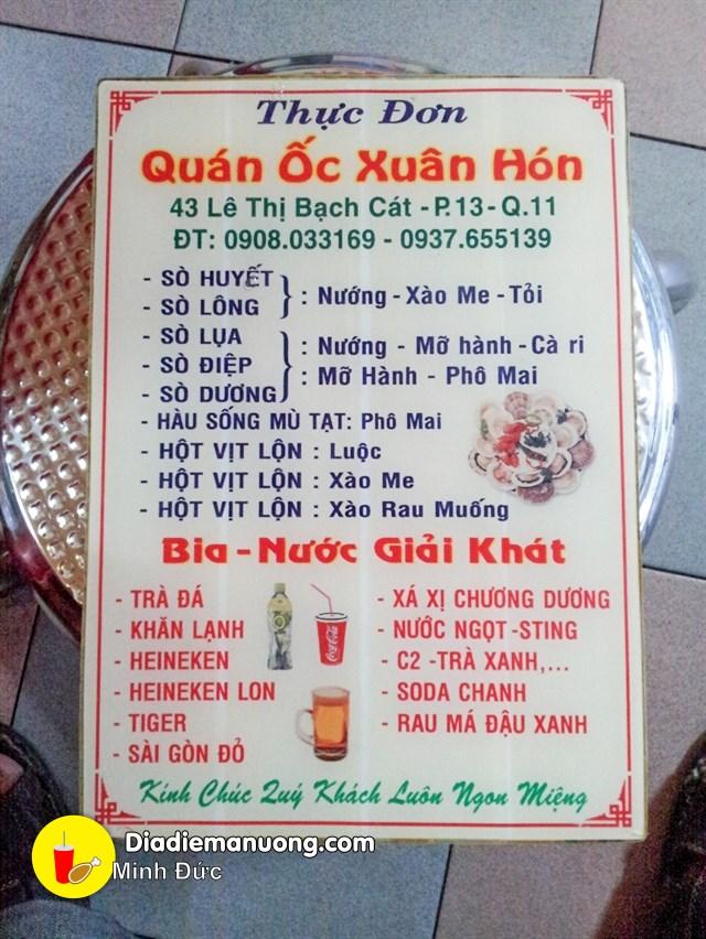 xuan hon le thi bach cat 5 - Ốc Xuân Hón: Bá chủ khu Lê Thị Bạch Cát - trai-nghiem, am-thuc