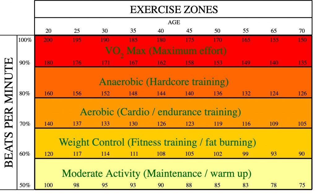 Exercise zones Fox and Haskell svg 1024x632 - Nhịp tim và những điều cần biết trong tập luyện thể thao - tham-khao, suc-khoe
